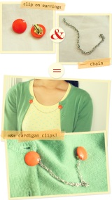DIY: Cardigan/Sweater Clips